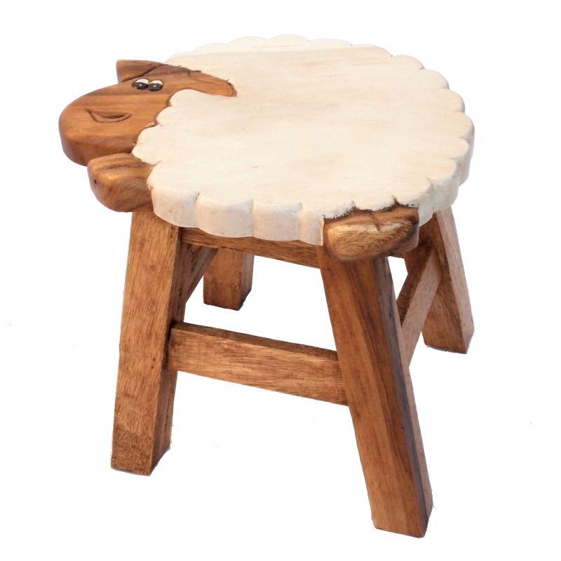 Stolička Ovce dřevo 25 cm