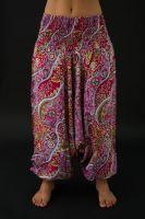 Harémové kalhoty růžové