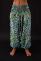 Harémové kalhoty zelené