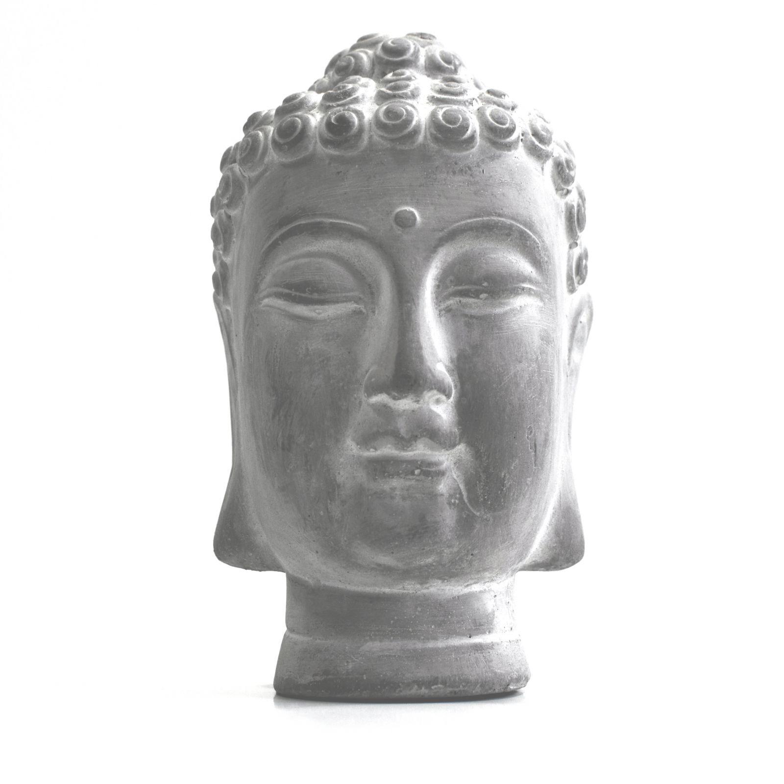 Soška Buddhova hlava beton 19 cm
