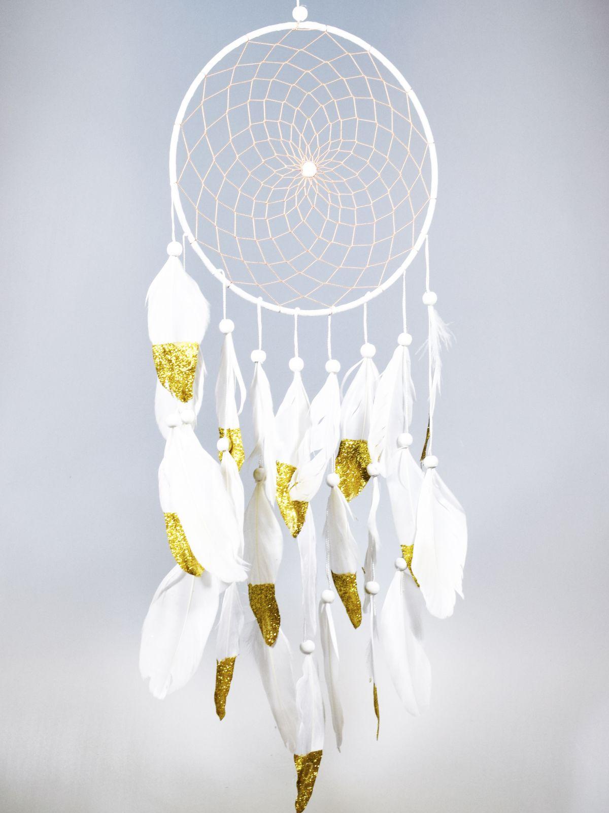Lapač snů 20 cm bílý Indonesie