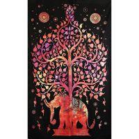 Přehoz Slon červený 205 x 135 cm