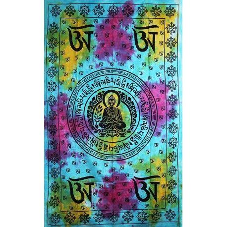 Přehoz Buddha barevný 210 x 140 cm