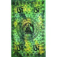 Přehoz Buddha zeleno-žlutý 210 x 140 cm