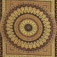 Přehoz na postel Flowerstar zelený II 225 x 200 cm Indie