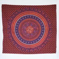 Přehoz Karavana červeno-fialový 225 x 200 cm