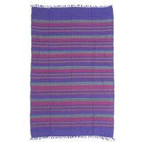 Přehoz Kerala šedo-fialový 240 x 155 cm