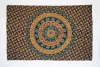 Přehoz Mandala Velbloudi modrý 200 x 130 cm