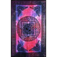 Přehoz Óm fialovo-modrý 205 x 135 cm