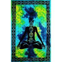Přehoz Sedm čaker modro-zelený 210 x 140 cm