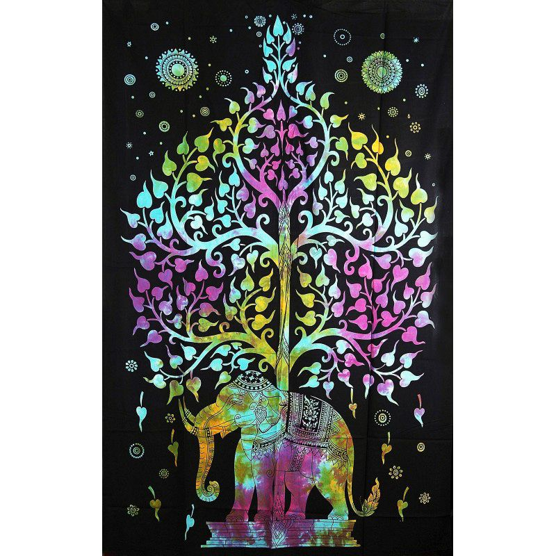 Přehoz na postel Slon barevný 205 x 135 cm Indie
