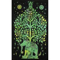 Přehoz Slon zelený 205 x 135 cm