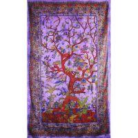 Přehoz Strom života fialový 205 x 135 cm