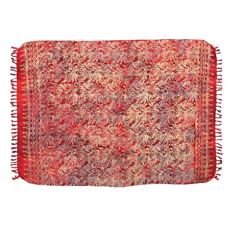 Šátek sarong, pareo Džungle červený
