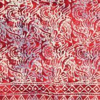 Plážový šátek sarong, pareo Džungle červený