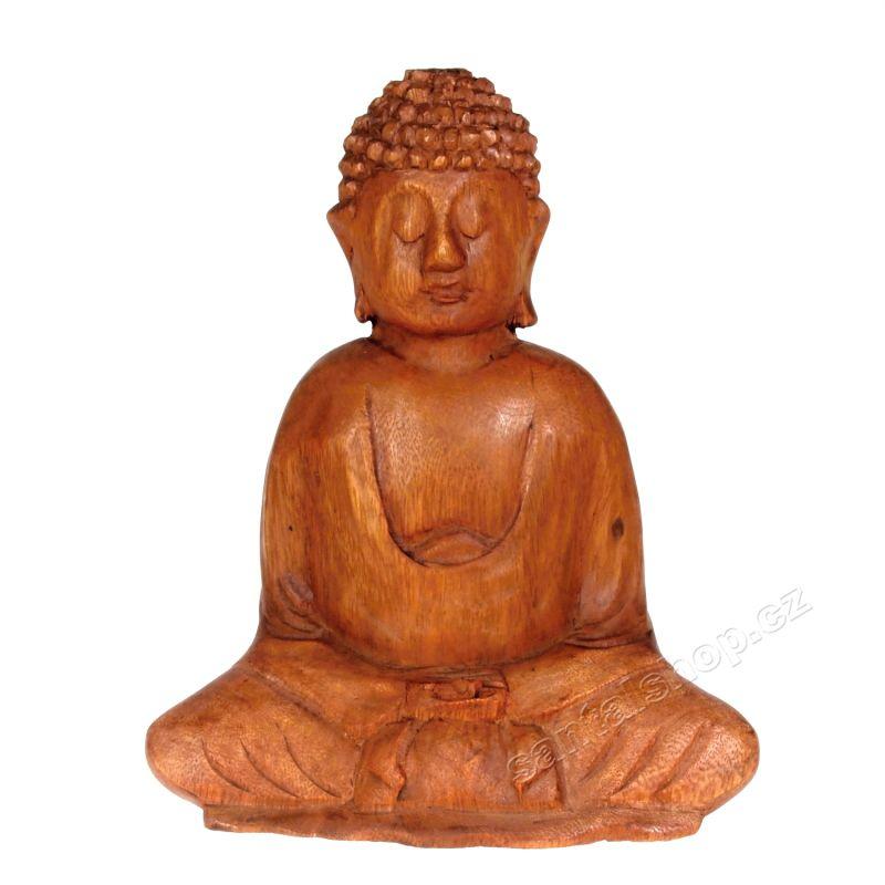Soška Buddha dřevo 20 cm Indonesie