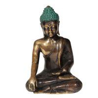 Soška Buddha kov 14 cm patina