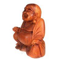 Soška Hotei smějící se buddha dřevo 30 cm Indonesie