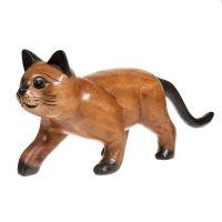 Soška Kočka dřevo 50 cm dlouhý ocas