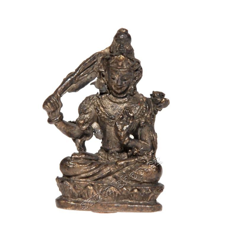Soška Manjushree kov mini 3,5 cm Indie