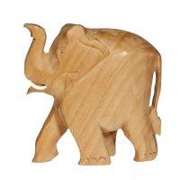 Soška Slon dřevo 08 cm hladký