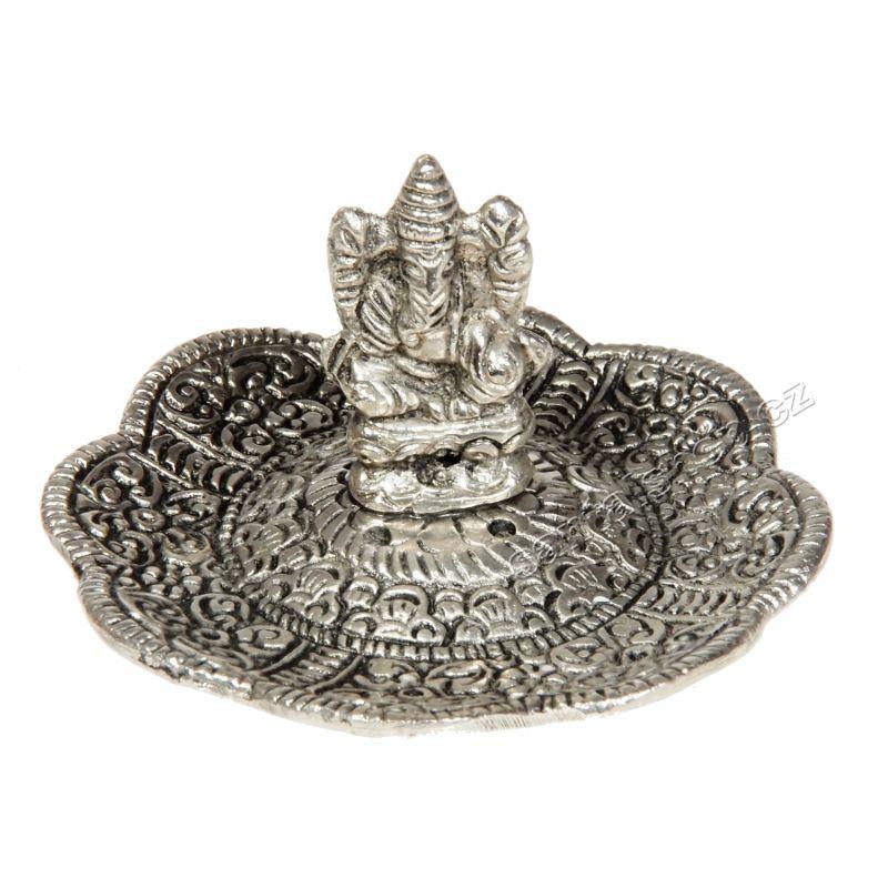 Stojánek na vonné tyčinky kovový Ganesh Indie