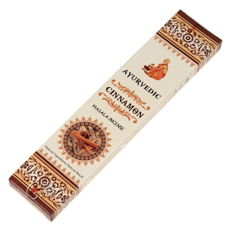 Ayurvedic Cinnamon indické vonné tyčinky 15 ks