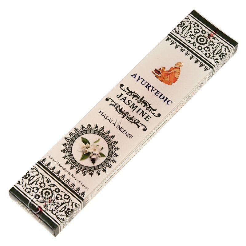 Ayurvedic Jasmine indické vonné tyčinky 15 ks