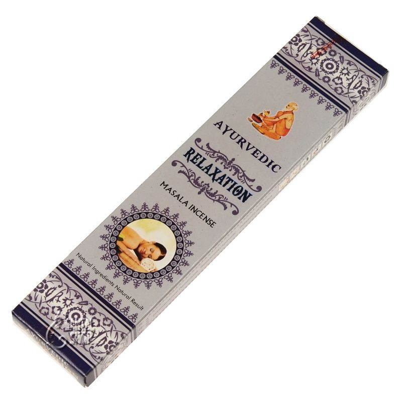 Ayurvedic Relaxation indické vonné tyčinky 15 ks