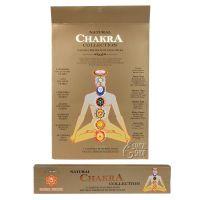 Chakra collection - 7 čaker indické vonné tyčinky sada 7 x 14 ks