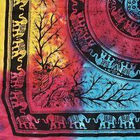 Indický přehoz na postel Džungle pestrobarevný 225 x 205 cm