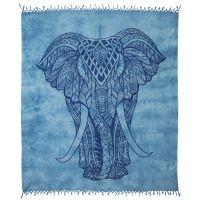 Přehoz Elefant modro-šedý 245 x 215 cm modrý