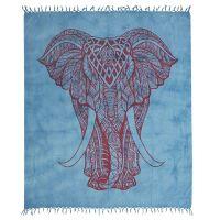 Přehoz Elefant modro-šedý 250 x 215 cm červený