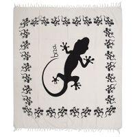 Přehoz Gekon bílý 235 x 215 cm černý