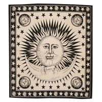 Přehoz Slunce béžový 230 x 205 cm