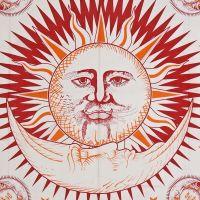 Indický přehoz na postel Slunce bílý 240 x 215 cm