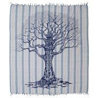 Přehoz Strom života 235 x 210 cm modrý