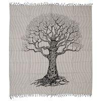 Přehoz Strom života 235 x 220 cm černý