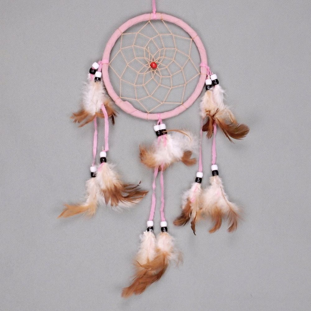Lapač zlých snů 13 cm I růžový