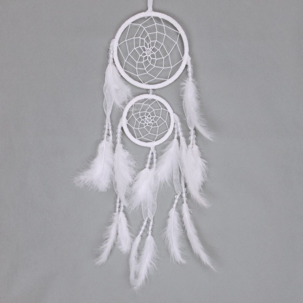 Lapač zlých snů 15 cm II bílý