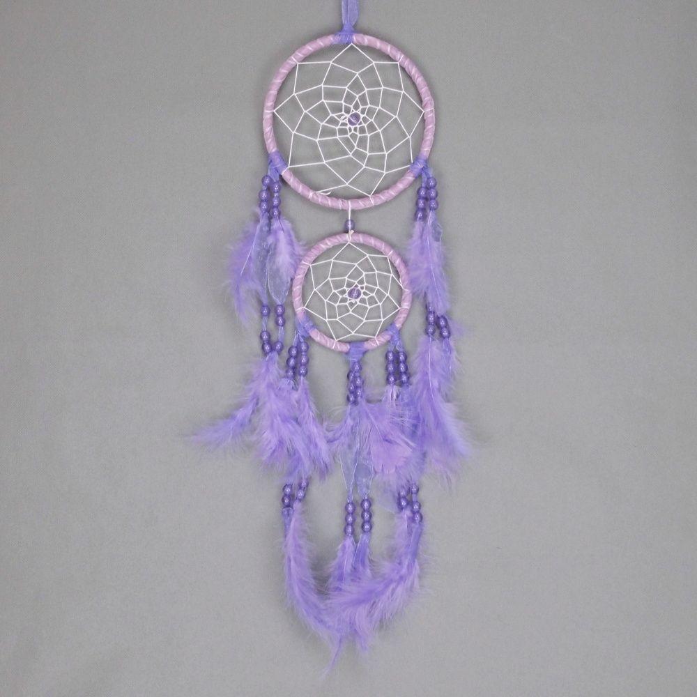 Lapač zlých snů 15 cm II fialový