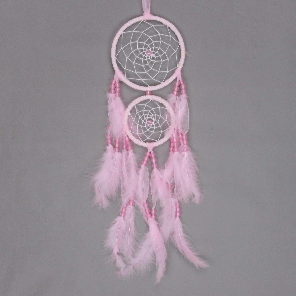 Lapač zlých snů 15 cm II růžový