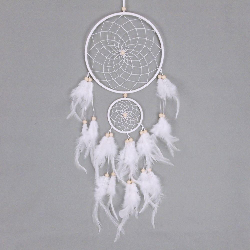 Lapač zlých snů 20 cm III bílý