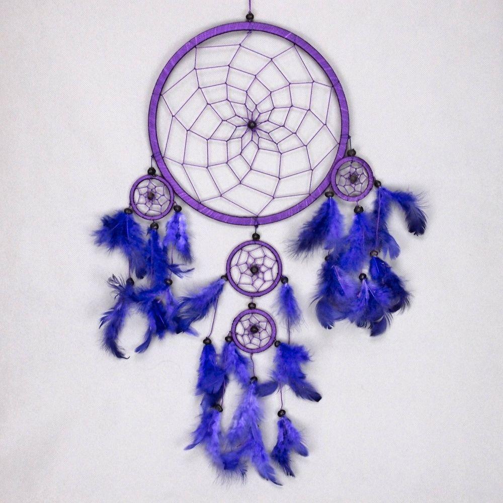 Lapač zlých snů 22 cm III fialový