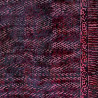 Plážový šátek sarong, pareo Déšť černo-fialový
