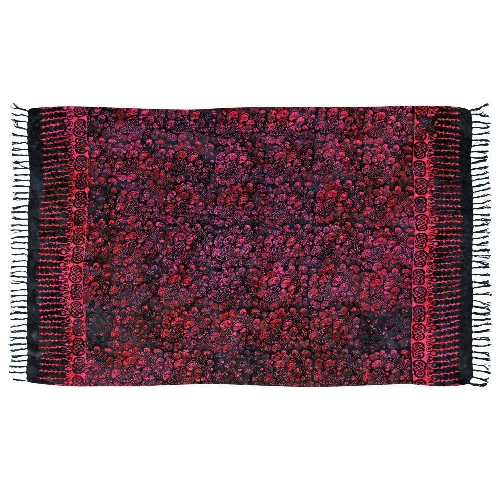 Šátek sarong, pareo BOB Batik Kolibřík černo-fialový