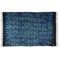 Šátek sarong Korál černo-modrý