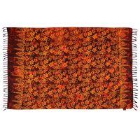 Šátek sarong Květy červený