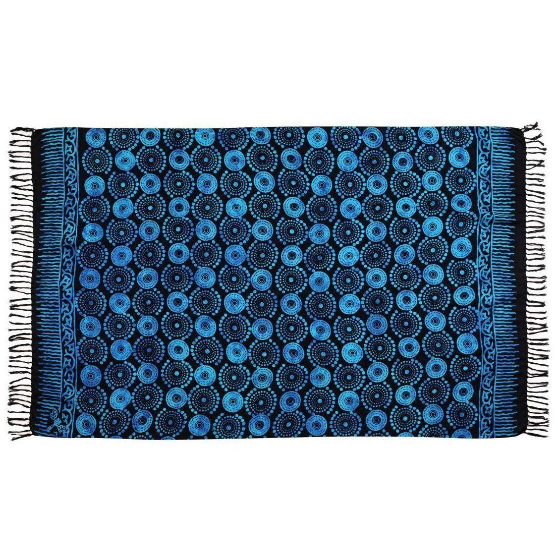Plážový šátek sarong, pareo Louka černo-modrý