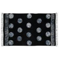 Šátek sarong Mandala černo-bílý